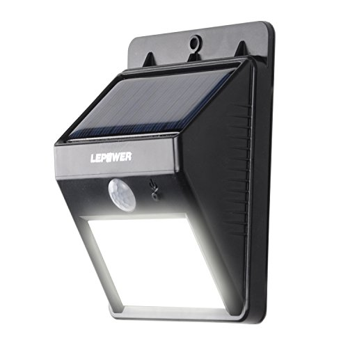 Lepower Tm Bright Outdoor Solar Energy Powered Motion Sensor Led Light ,Weatherproof ,Wireless No Battery Required / Auto On At Night / Auto Off At Sunrise /For Patio, Deck, Yard, Garden, Home, Driveway, Stairs, Outside Wall / Wireless Exterior Security L