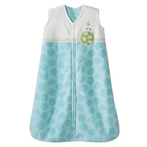 HALO SleepSack Micro Fleece Wearable Blanket, Green, Medium