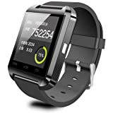 NuoYa005 U8 Smart Watch Bluetooth per Smartphone Android e iPhone Nero