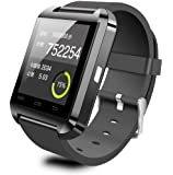 U8 Bluetooth Wrist Smart Watch Phone Mate For IOS Android iphone Samsung HTC Black