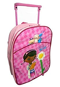 Doc McStuffins Girl's Small Backpack Wheeled Trolley Bag from Mega Brands