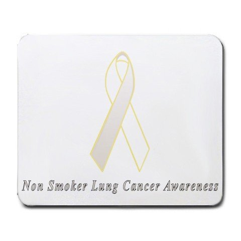 Non Smoker Lung Cancer Awareness Ribbon Mouse Pad