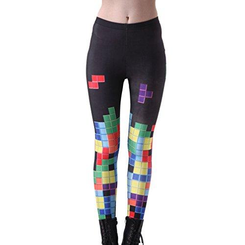 Tetris 80s Computer Game Women's Stretchy Yoga Pants - S to XXXXL
