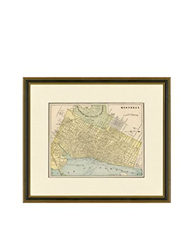 Antique Map of Montreal, 1883-1903 As You See