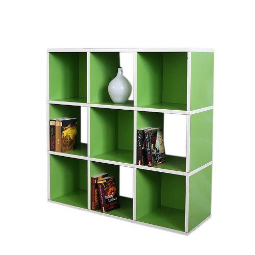 Modul-Regal Standregal M73, 93x93x30 cm ~ grün jetzt kaufen