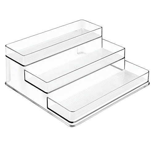 InterDesign Linus Spice Rack, Organizer for Kitchen Pantry, Cabinet, Countertops - Large, 3-Tier, Clear (Countertop Organizer Rack compare prices)