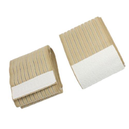 Sports Detachable Closure Khaki Stretchy Crus Calf Sleeve Support