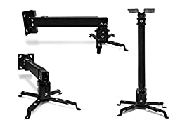 OEM Universal Projector Ceiling Mount - International Version - Black (P-MOUNT-BL)