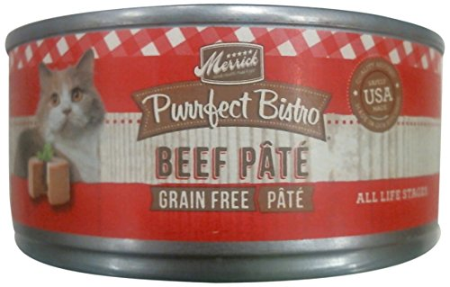Merrick Purrfect Bistro Grain Free Beef Pate Canned Cat Food