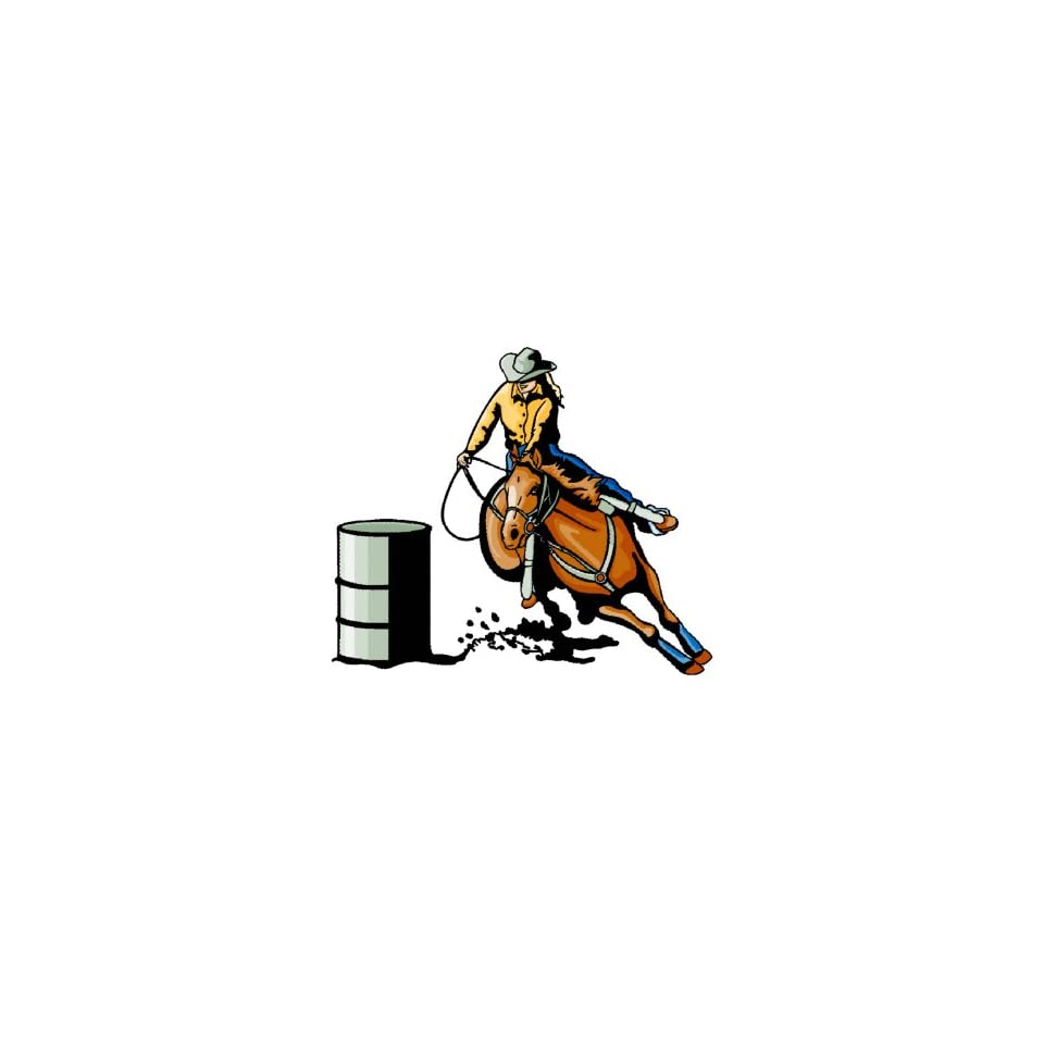 Horse  printed vinyl wall art repositional decal  barrel Racer Girl
