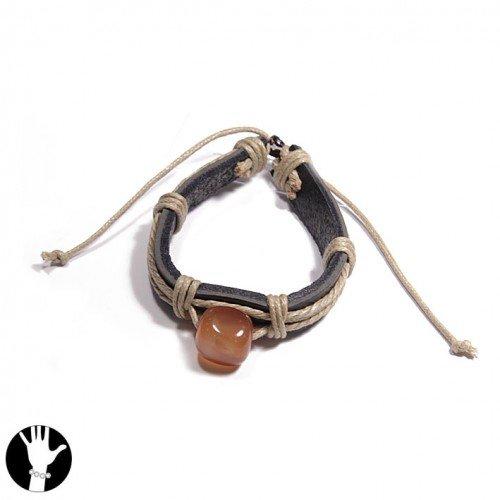 SG Paris Br. Reglable Brown Comb Marron Combinaison Bracelet Bracelet Adjustable Fabrics The Essential Man Hom-Actua The Essential Z Others