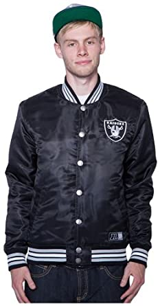 Majestic Oakland Raiders Tarr Satin College Jacke Jacket Windbreaker Winterjacke by Majestic
