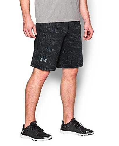 "Under Armour Men's Raid Printed 10"" Shorts, Black (011), XX-Large"