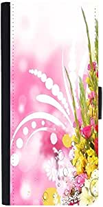 Snoogg Floral Corner Border With Blurred Background Designer Protective Phone Flip Case Cover For Vibe K4 Note
