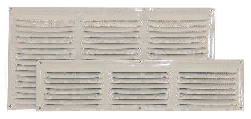 Ventamatic CX68WH 8-Inch by 16-Inch Aluminum Undereave Screened Vent, 24-Pack, White