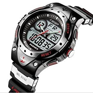 Yoyoup@High Quality Sport Watch with Water-proof Function Dual Time Display Suitable for Boys & Girls