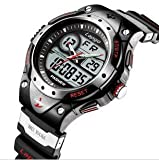 HighQuality PASNEW Water-proof Dual Time Boys Girls Sport Watch