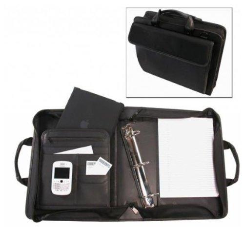 Bond Street 465500BLK Ballistic Nylon Electronic Device Carrier-Business Organizer with Removable 3 in. Binder Portfolio