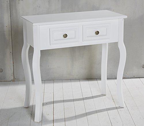 Console tavolo bianco in stile rustico anticato rubrica - Tavolo bianco anticato ...