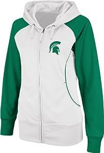 Michigan State Spartans Ladies Team Sleeve Full-Zip Hooded Sweatshirt by Colosseum