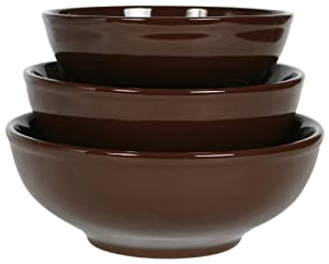 COLORcode Serving Bowl, Dark Chocolate, Set of 3 by COLORcode