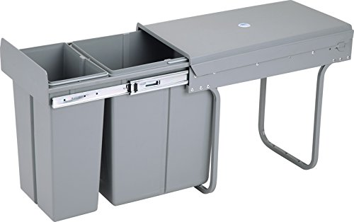 Under Kitchen Cabinet Double Pull Out Trash Can With Lid