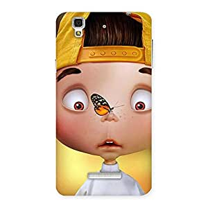 Impressive Confused Funny Boy Back Case Cover for Yu Yureka