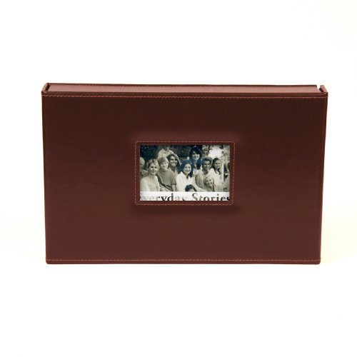 Xyron 8-Inch by 12-Inch Everyday Stories Leather Album, Brown