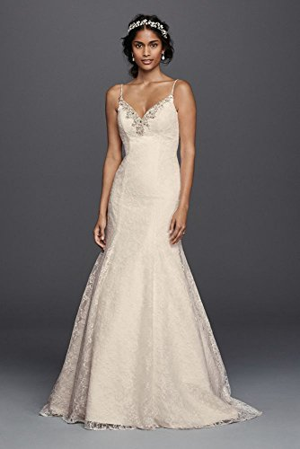 23663b9dc04 Jewel All over Lace Beaded Trumpet Wedding Dress Style V3801