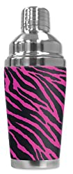 Mugzie brand 16-Ounce Cocktail Shaker with Insulated Wetsuit Cover - Pink Zebra