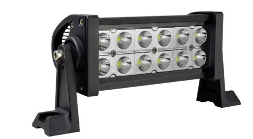 Mictuning 7.5'' Inch 36W Led Light Bar - Spot Beam 10-30V 2000 Lm White Off Road Suv Jeep Truck Atv