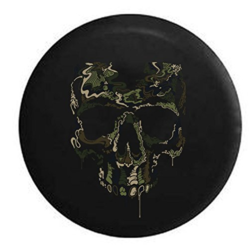 Military Camo Special Ops Digital Skull Spare Tire Cover Black 35 in (Jeep Wrangler Safari Tire Cover compare prices)