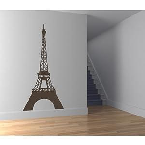 Torre Eiffel Pegatinas de Pared. Arte de Pared Lugar Conocido Paris disponible en 5 tamaños y 25 colores por IconWallStickers - BebeHogar.com