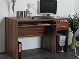 schreibtisch computertisch pc tisch wenge neu top angebote computertisch selber bauen. Black Bedroom Furniture Sets. Home Design Ideas