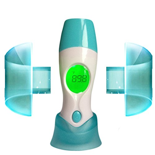 Evergreensstore Best Infrared Thermometer Dual Mode - Accurate Digital Ear and Forehead Thermometer - Temporal Measure Baby Temperature - Suitable for Infant, Toddler and Adults