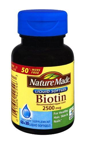 Nature Made Biotin 2500Mcg Dietary Supplement Softgels , 90 Ct (Pack Of 3)