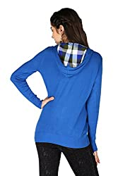 La Vida Women's Sweat Shirt (SS15SS10001LAFLBLXL_Blue_X-Large)