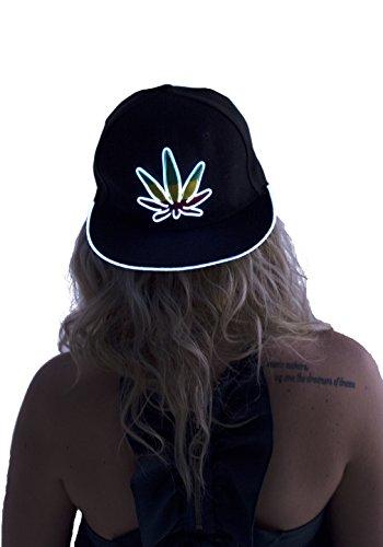Light-Up-Marijuana-Hat-White