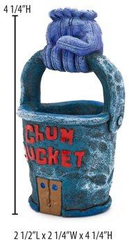 Spongebob Squarepants Chum Bucket Aquarium Ornament, 4.25 by 2-1/2 by 2-1/4-Inch