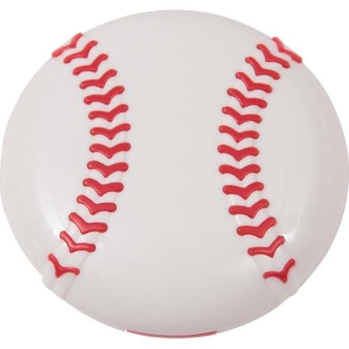 不二貿易 コンタクトケース ベースボール レッド 12094