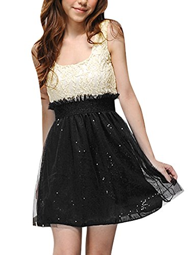 1ab153efa5f0 Now the price for click the link below to check it. Allegra K Women  Sleeveless Sequin Mesh Lace Party Cocktail Mini Skater Dresses.