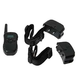 Collier de Dressage vibrand et électrique pour deux Chien - avec télécommande multifonction Ecran LCD portée 300m