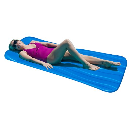 Aqua Cell Deluxe Cool Pool Float, Blue, 72 x 1.75-Inch Thick