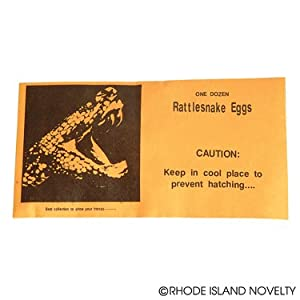 Set of 25 Rattlesnake Eggs Gag Gift