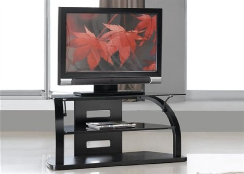 JUAL JF205-850 CURVED REAL WOOD VENNER TV STAND UP TO 37