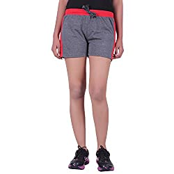 DFH Women Regular Shorts (WN-DG-01-_36, Grey, 36)