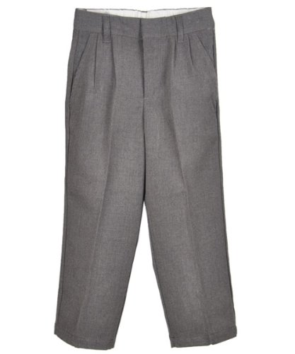 "French Toast Little Boys' ""All Season"" Pleated Pants - gray, 6"