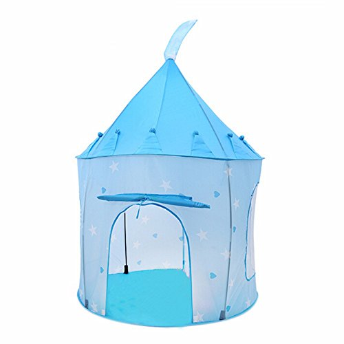 Babrit-New-Portable-Folding-Play-Tent-Indoor-or-Outdoor-Play-House-Children-Playhouse-Blue-Color