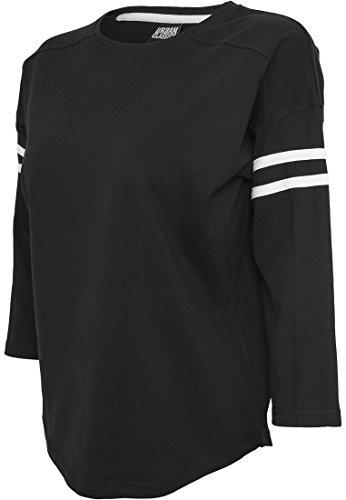 Urban Classics -  T-shirt - Basic - Maniche a 3/4 - Donna nero / bianco M