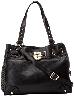 Juicy Couture Signature Leather Daydreamer YHRU3657 Shoulder Bag,BLACK,One Size